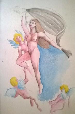 Acuarela: Los ángeles