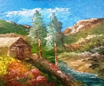 Oleo: Montañas de Colorado