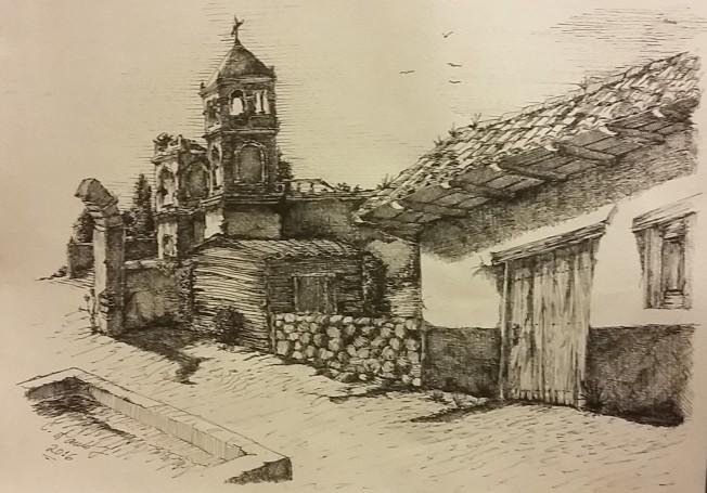 Tinta: Calle de tierra